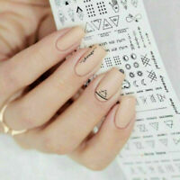 DIY Nail Art Water Transfer Letter Stickers Manicure Nails Tips Decals Decor NEW