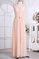 Women's Sleeveless Bridesmaid Party Long Dress Evening Prom Gown Formal Dresses
