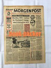 BERLINER MORGENPOST 1.9.1963: Hertha BSC verlor in Stuttgart sang- und klanglos