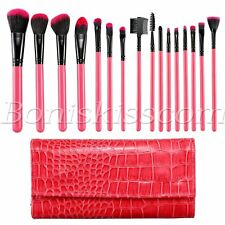 16pc Pro Makeup Brushes Set Powder Eyebrow Eyeshadow Eyeliner Lip Brush With Bag