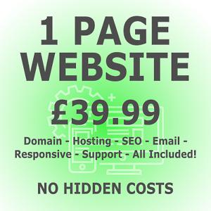 Website Design - Domain & Hosting Included - Mobile Friendly Web design + SEO