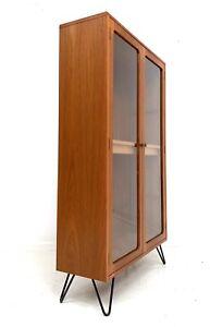 G PLAN FRESCO VINTAGE RETRO TEAK GLAZED BOOKCASE DISPLAY CABINET SHELVES 1970s