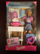 Sweet Treats Juego De Cocina Barbie Muñeca Mattel Vintage 1998 20780 nunca quitado de la Caja (Caja desgastada)
