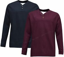 New Mens Long Sleeve Light Weight Y Neck Pullover Mock Fashion Top S - 3XL