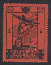 FRANCE - RED CROSS SEAL/LABEL ISSUED AUGUST 14-15 1948 MOSBAUGH CATALOG #336