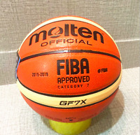 GF7X Molten Offical Size #7 Standard Leather In/Outdoor Training Basketball Play