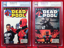 DEADPOOL vs. PUNISHER #54 & #55 both PGX (not CGC) 9.8 NM/MT #55 sig PALMIOTTI