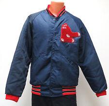 vtg BOSTON RED SOX Navy Jacket Men M 70s/80s Patch Logo quilt padded lining mlb