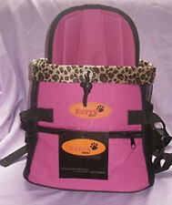 Dog Front Carrier Pink & Leopard Print Betty Paw New