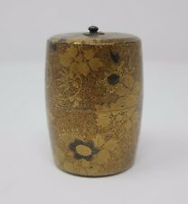 BELLISSIMO ANTICO Meiji Giapponese LACCA Natsume-TEA CADDY