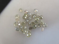 5 Pieces 3mm Natural Clear White Grey Round Brilliant Cut Diamonds