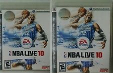 Sony PlayStation3 Video Game Bundle Lot fo 2 for NBA Live 10 (2009) complete