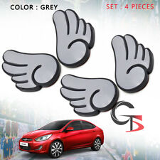 Door Bumper Rubber Wing Grey or Pink For Universal Toyota Ford Honda Mitsubishi
