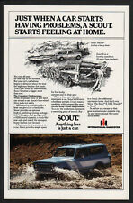 1979 INTERNATIONAL SCOUT SUV 4 Wheel Drive Car - Truck - Harvester IH VINTAGE AD