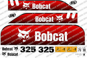 BOBCAT 325d MINI DIGGER DECAL STICKER SET