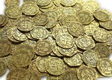 64 Metal Pirate Zinc Coins Treasure Large 25mm Replica Doubloon Toys for Pirates