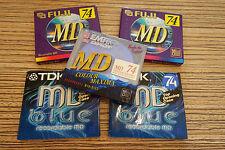 5 x MD TDK Fuji BASF  in Folie   (22F) Md Minidisc  Color Mix