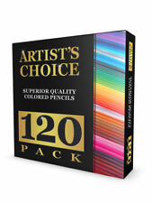 120 Colored Pencils Set Pencil Case Holder Unique Colors Premium Kids & Pro Art