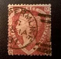 GB QV SC 32a * SG  52 * 1 1/2d Pl 3 Lake Red 1870 *  QV Classic Selection Lot 32