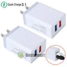 2-Port Fast Quick Charging Wall Charger QC 3.1 Dual USB Hub Power Adapter