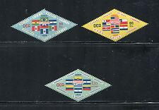 Ecuador -#C352-4   O.A.S.  flags  1959  3v.  MNH- D134