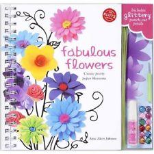 FABULOUS FLOWERS CREATE PRETTY PAPER BLOSSOMS KLUTZ BOOK & ACTIVITY KIT