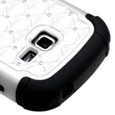 Samsung Galaxy Discover / Centura - HARD & SOFT HYBRID CASE WHITE DIAMOND BLING