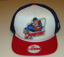 Superman New Era Cap Hat Snapback Throwback One Size Fits M/L DC 9Fifty Trucker