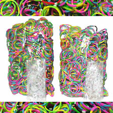 1200 RARE TIE DYE Rubber Bands + 50 Infinity Clips for Rainbow Loom Bracelet Kit
