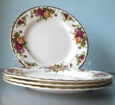 Royal Albert Old Country Roses 4 Salad Dessert Plates Boxed New