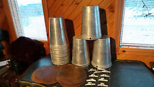 Lot of 18 MAPLE SYRUP Sap BUCKETS + 18 Lids Covers + 18 Taps Spouts Spiles