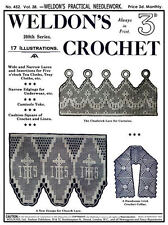 Weldon's 2D #452 c.1922 Pattern Book of Crochet Church Laces & Curtains