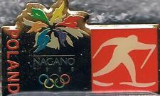 1998 Nagano Poland Olympic Cross Country Skiing Team NOC Pin