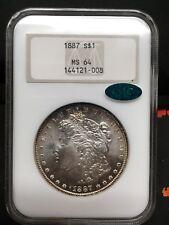 1887 morgan silver dollar NGC ms64 CAC