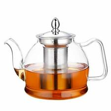New listing Hiware 1000ml Glass Teapot with Removable Infuser, Stovetop Safe 33 Oz, Clear