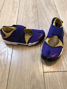 Nike Air Split Toe Blue/yellow UK Size 4.5 EUR 37.5