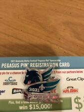 2021 Kentucky Derby Festival Pegasus Pin —- regular Not registered.