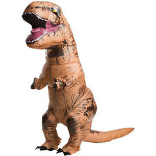 Adult T-Rex Jurassic World Inflatable Dinosaur Costume Blow Up Fancy Dress