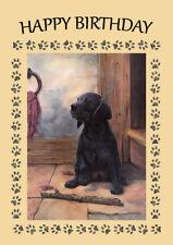 LABRADOR RETRIEVER PUPPY DOG BIRTHDAY GREETINGS NOTE CARD