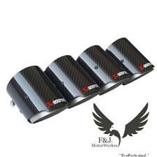 Bmw Carbon Fibre Akrapovic Exhaust Tips 4 Set M2 M3 M4 M5 M6 F80 F82 F83 F10 F87