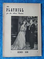 Kind Sir - Alvin Theatre Playbill - March 15th, 1954 - Mary Martin - Boyer