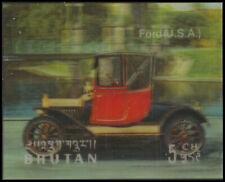 "BHUTAN 128A - Antique Automobiles ""Ford Automobile"" (pf3089)"