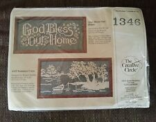 The Creative Circle Counted Cross Stitch Kit #1346 Bless Our Home