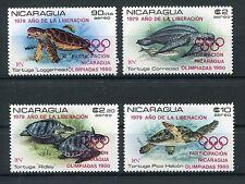 Nicaragua 2099/2102 postfrisch / Olympiade - Schildkröten ................1/3571