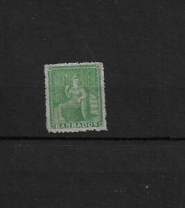 (8) Barbados 1861-70 0.5d green shade unused, no gum
