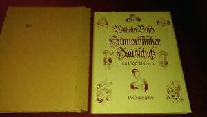 Humoristischer Hausschatz Wilhelm Busch Album 1500 Bilder von 1957 im Schuber