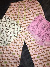 Pyjama Pants X 3.. Peter Alexander.. Sausage Dog...Dachshund Size 10-12