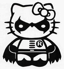 HELLO KITTY ROBIN CAR WINDOW VINYL DECAL BUMPER STICKER BATMAN DARK KNIGHT