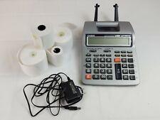 Casio HR-100TM Printing Calculator + AC Adapter - Paper Rolls Office Business