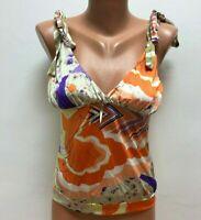 ROBERTO CAVALLI size IT 46  - UK 10 Vest Top Blouse Floral Multicolored